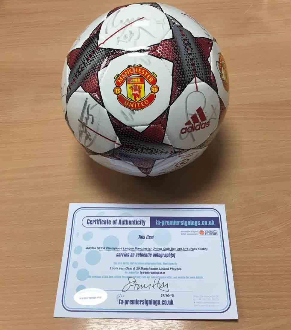 Image for Win A Signed Manchester United Football