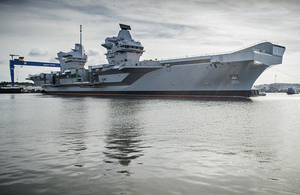 Image for The Nation's Flagship Takes To Sea For The First Time