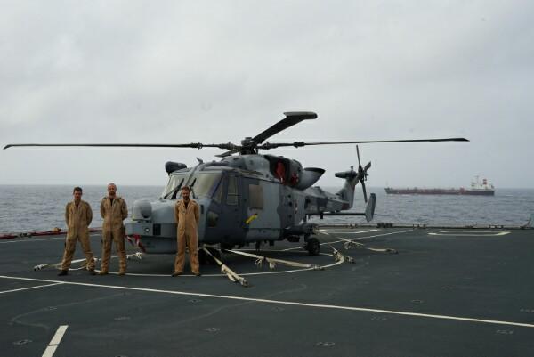 Royal Navy Air Crew Rescues Last Survivor Of Sunken Tanker