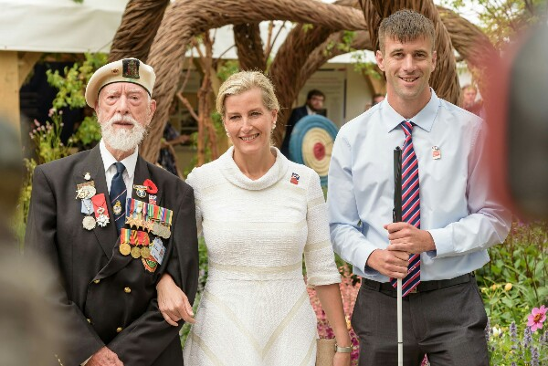 Image for Blind Veteran From Hampshire Meets The Countess Of Wessex At Hampton Court