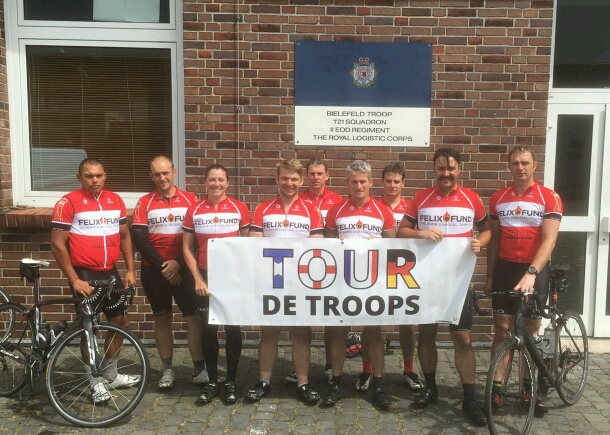 Image for Tour De Troops Raise Thousands For Felix Fund Over 15 days And 1500 Miles