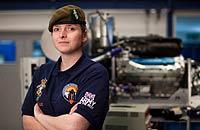 Female REME Mechanic goes SuperSonic!